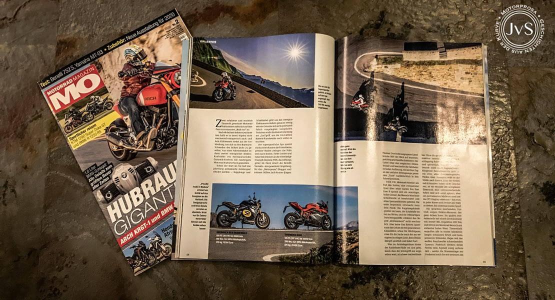 Motorprosa im Motorrad Magazin MO